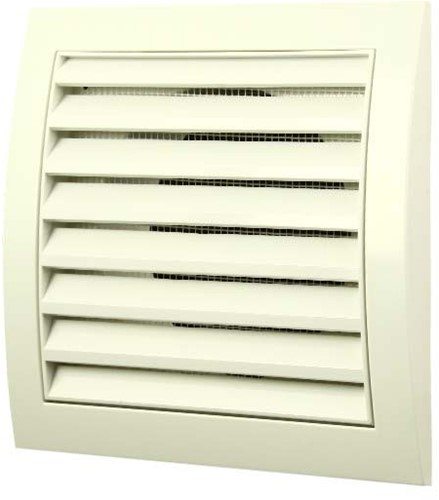 Wall grille 150x150 with diameter 100 (white)
