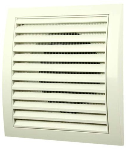 Wall grille 190x190 - Ø125 white