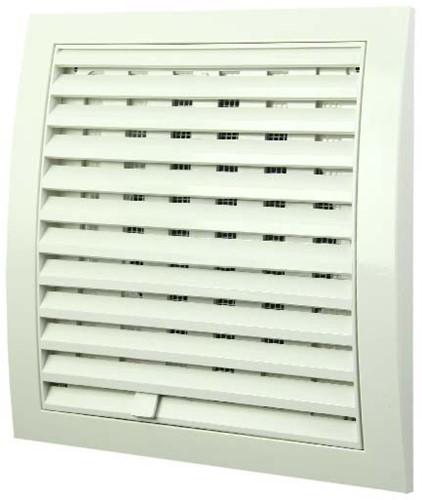Wall grille adjustable 190x190 diameter: 150 white ND15R