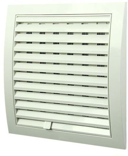 Wall grille adjustable 190x190 white N12R
