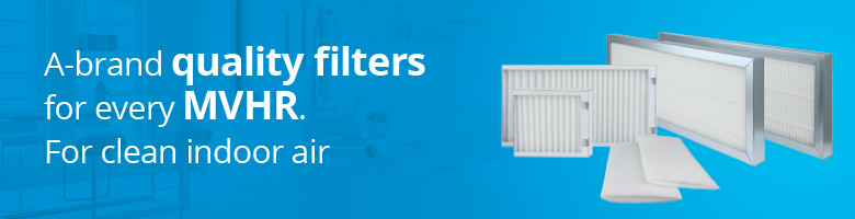 A-brand quality filters for every MVHR. For clean indoor air