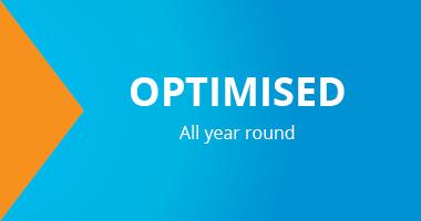 Optimised. All year round