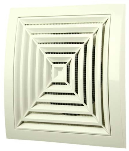 Ceiling diffuser square 190x190 diameter: 125 white - ND12G