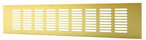 Skirting diffuser aluminium - gold L=400mm x H=60mm -RA640G