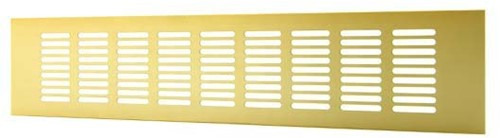 Skirting diffuser aluminium - gold L=500mm x H=60mm -RA650G