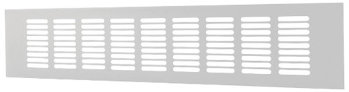 Skirting diffuser aluminium - white L=500mm x H=80mm -RA850