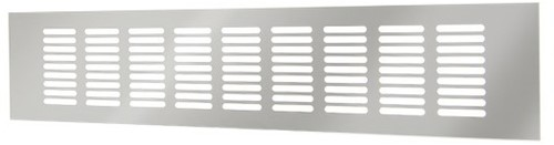 Skirting diffuser aluminium - silver L=400mm x H=60mm -RA640S