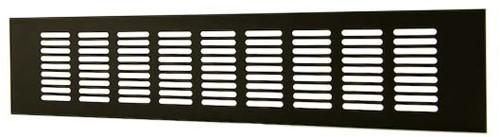 Skirting diffuser aluminium - black L=400mm x H=60mm -RA640B