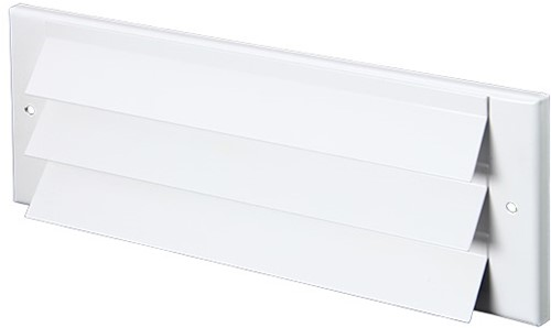 Outside wall grille surface-mounted 300mm x 100mm WHITE
