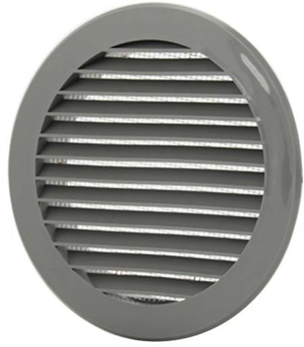 Vane grille diameter: 125mm grey - VR125P