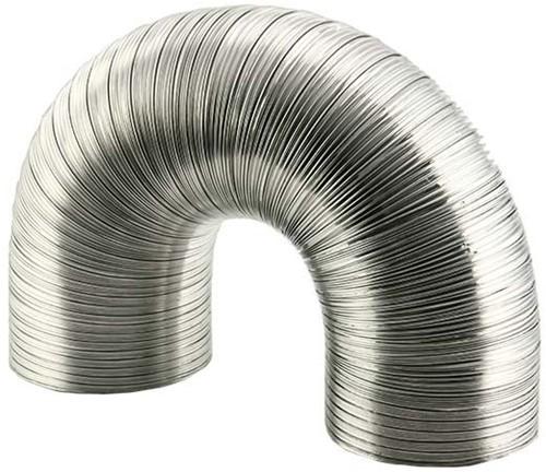 Rigid aluminium ventilation hose diameter 125 mm length 1.5 metres