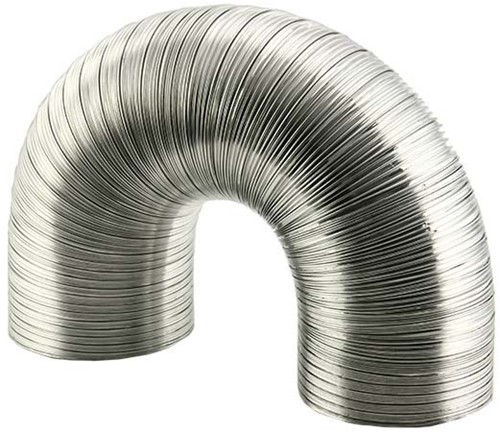 Rigid aluminium ventilation hose round Ø 150 mm length 3 metres