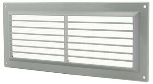 Ventilation grille rectangular with grill 130x300 grey - VR1330P