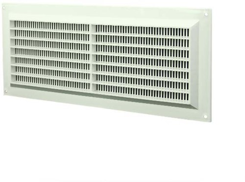 Ventilation grille rectangular with grill 130x300 white - VR1330