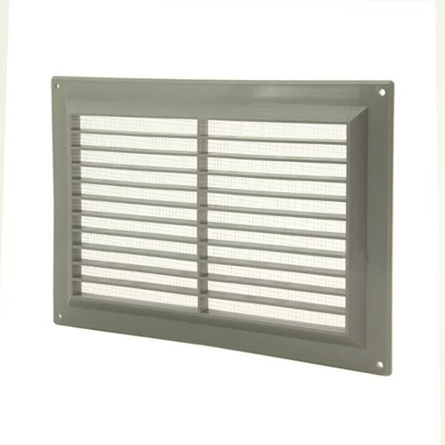 Ventilation grille rectangular with grill 250x170 grey - VR2517P