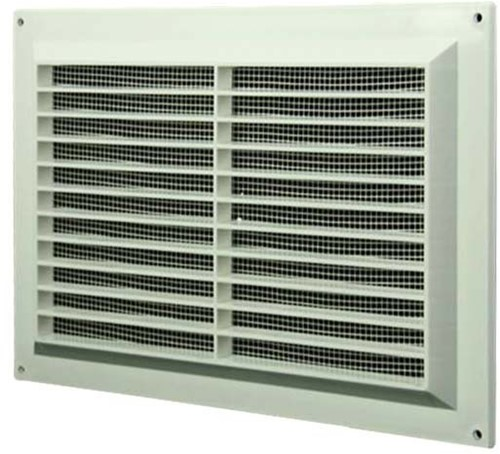 Ventilation grille rectangular with grill 250x170 white - VR2517