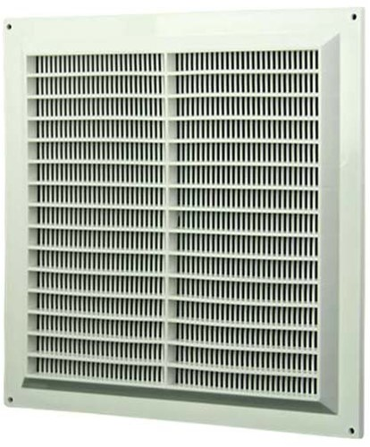 Ventilation grille square with grill 250x250 white - VR2525