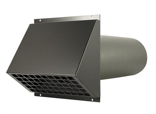MVHR HR aluminium exterior wall duct Ø200mm black including duct